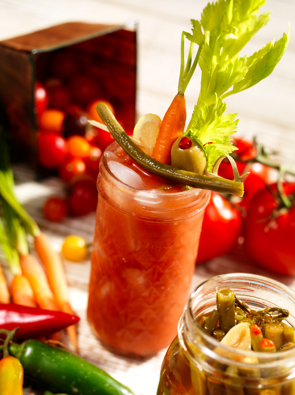 Pickled Green Bean, Bloody Mary Drink©David Bell